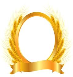 Gold vignette vector