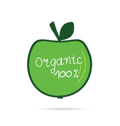 green apple organic vector image vector image