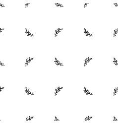 hand drawn brush flowers handmade seamless ornate vector image vector image