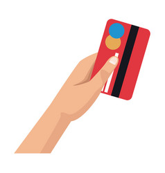 Hand with credit card payment financial concept vector