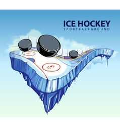 hockey rink vector image vector image