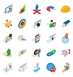 Interface sign icons set isometric style vector