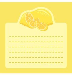 Lemon Memo Notes vector image vector image