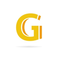 Logo G letter for company design template vector image