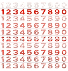 Numbers big set vector image