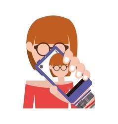 Phot selfie design vector