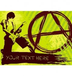 punk rock background vector image vector image