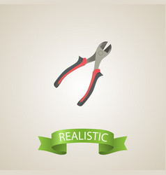 realistic pliers element of vector image vector image