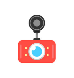 Red car dvr icon vector