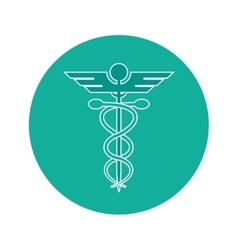 Rod of asclepius icon vector