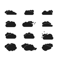 Set of black sky clouds vector image vector image