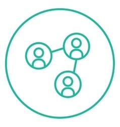 Social network line icon vector image vector image