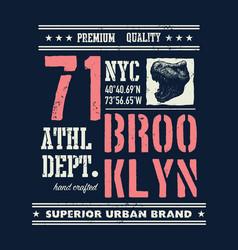 vintage urban typography with tyrannosaurus head vector image vector image