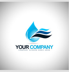 Water drop icon logo vector
