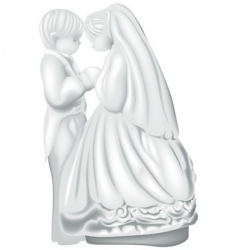 wedding figures vector image vector image