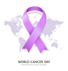 World Cancer Day vector image vector image
