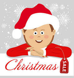 young woman wearing santa claus costume vector image