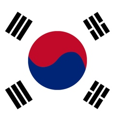 South korean flag vector