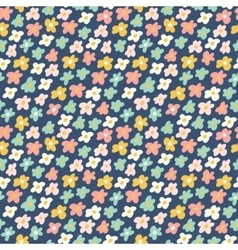 Cute little flowers seamless pattern vector