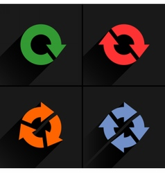 Color arrow loop refresh reload rotation icon vector