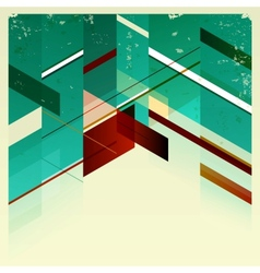 Abstract retro geometric background vector