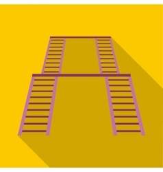 Ladder on the playground icon flat style vector