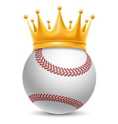 Baseball ball in crown vector
