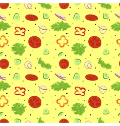 Salad seamless pattern vegetables salad with spice vector