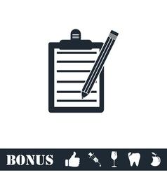 Checklist icon flat vector
