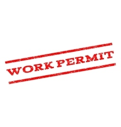 Work permit watermark stamp vector