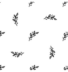 Hand drawn brush flowers handmade seamless ornate vector