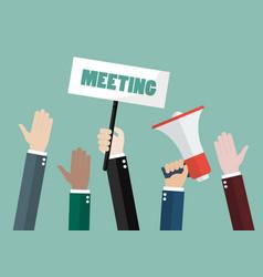 People attending meeting vector