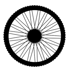 Bicycle wheel icon vector