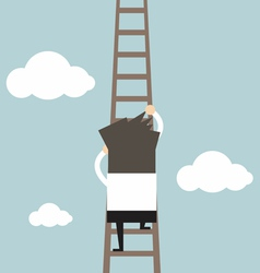 Businessman climbing the ladder vector