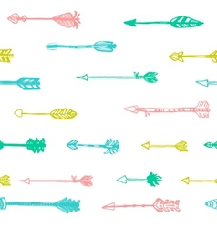 Hand drawn arrows in retro style vector