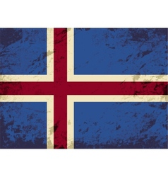 Icelandic flag grunge background vector