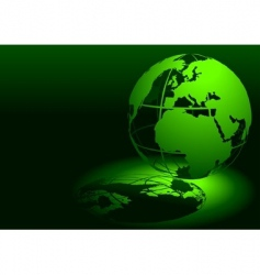 3d globe green vector image vector image
