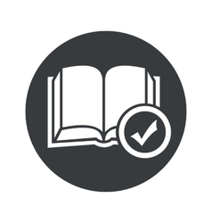 Monochrome round select book icon vector