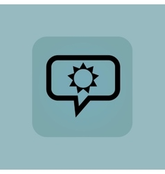 Pale blue sun message icon vector
