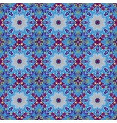 Geometric colorful seamless patterns set vector image