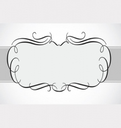Swirl decorative frame vector