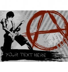 Punk rock background vector