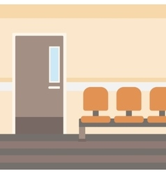 Background of hospital corridor vector