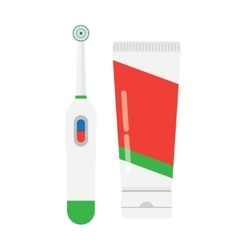 Electric toothbrush isolated vector