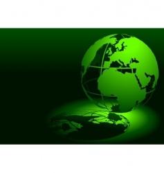 3d globe green vector image