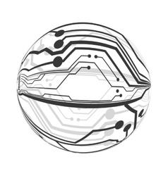 Circuit board circle icon technology design vector