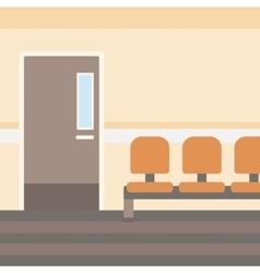 Background of hospital corridor vector image