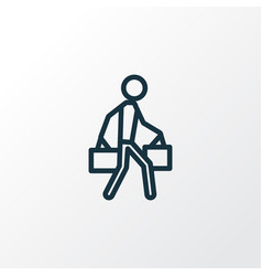 Bags outline symbol premium quality isolated vector