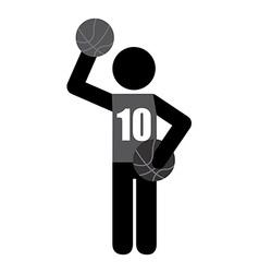 basketball sport vector image vector image