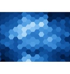 Blue hexagon abstract background vector